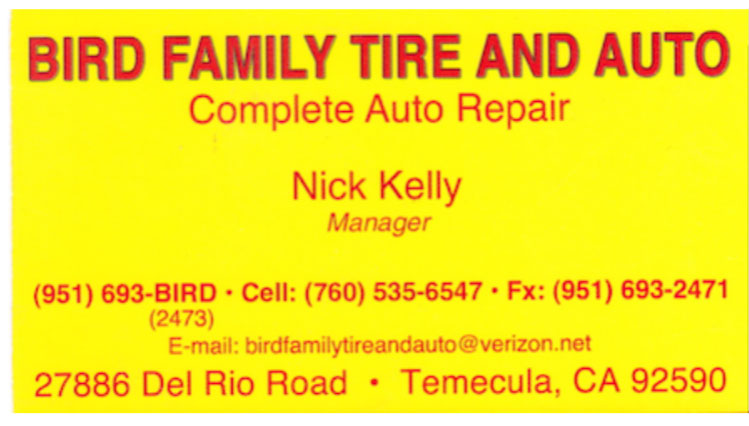 Bird Family Tire and Auto