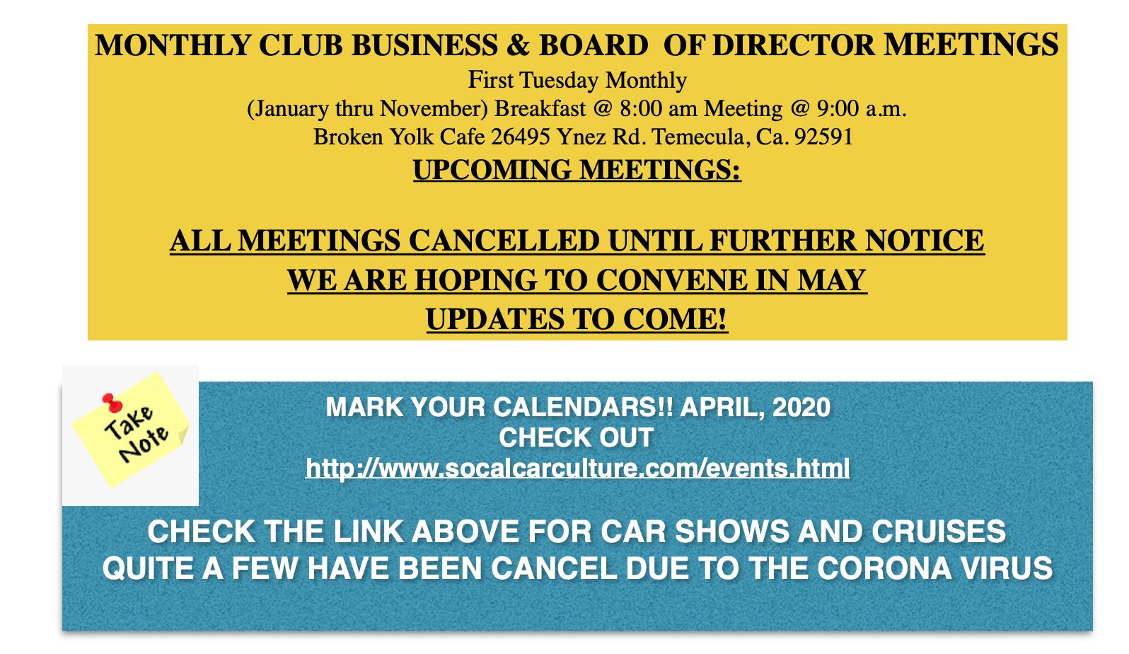 Events April 2020